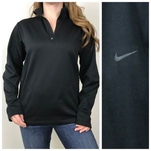 NIKE GOLF Black Therma Fit Black 1/4 Pullover XL